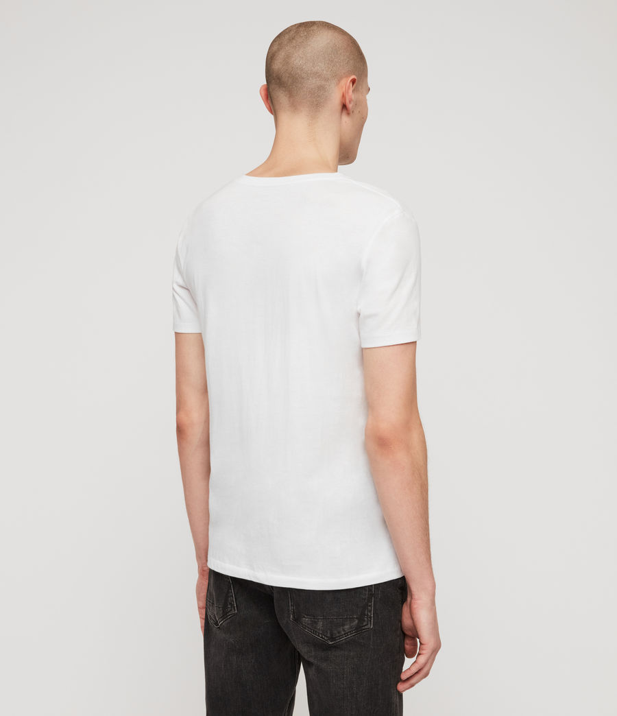 Men's Cooper V-Neck T-Shirt (optic_white) - Image 6