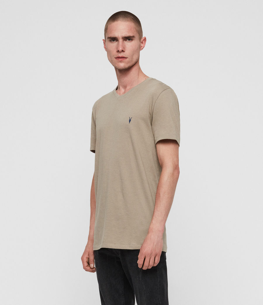 Mens Cooper V-Neck T-Shirt (sutro_grey) - Image 2