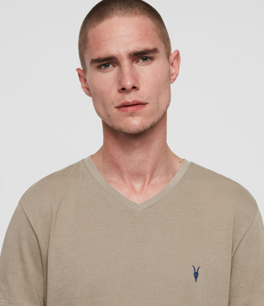 Mens Cooper V-Neck T-Shirt (sutro_grey) - Image 3