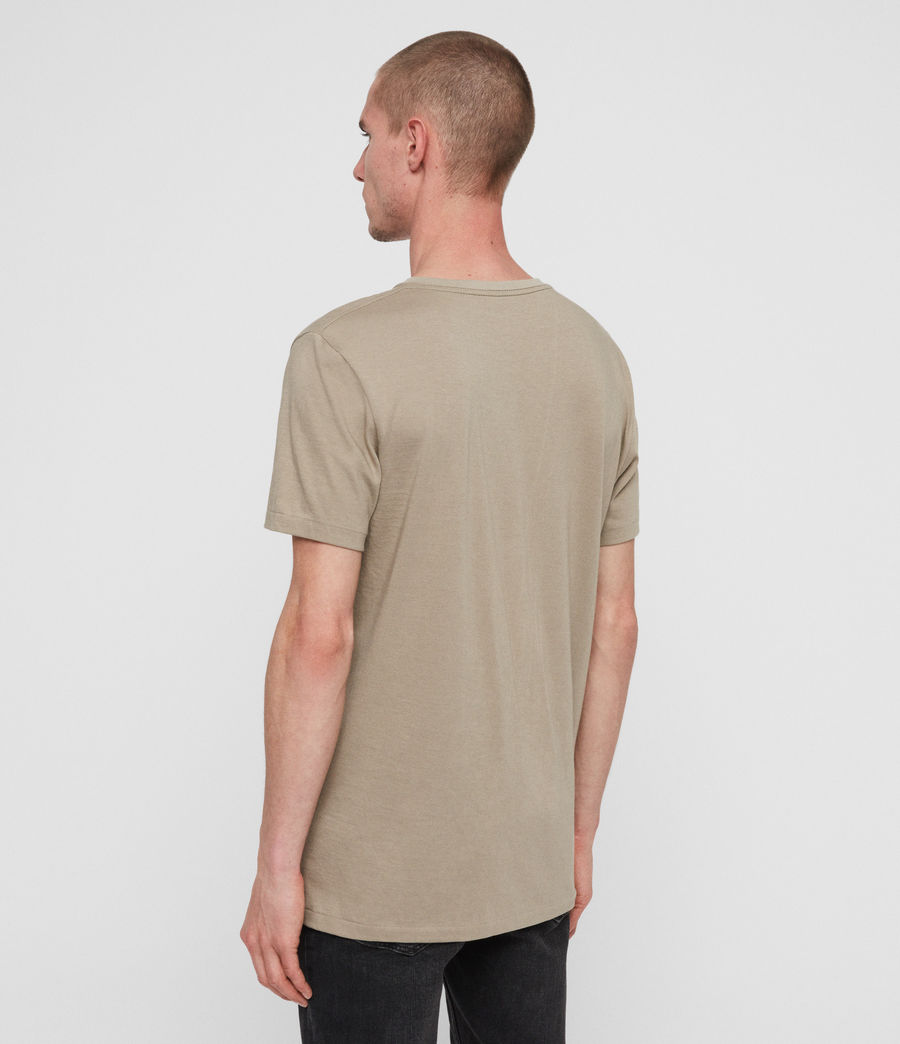Mens Cooper V-Neck T-Shirt (sutro_grey) - Image 4
