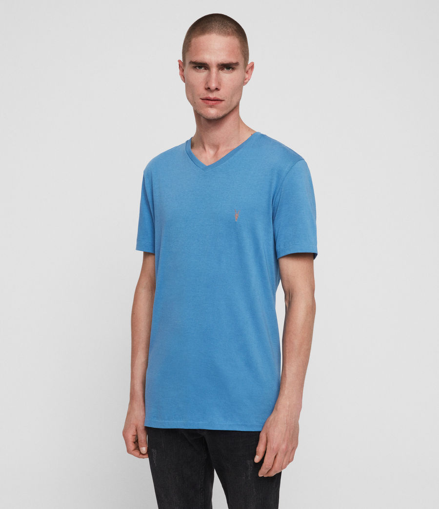 Mens Cooper V-Neck T-Shirt (atlantic_blue) - Image 1