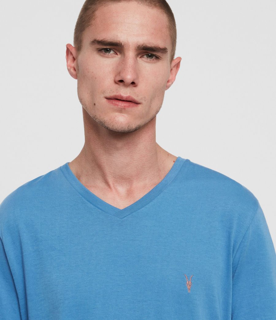 Mens Cooper V-Neck T-Shirt (atlantic_blue) - Image 2