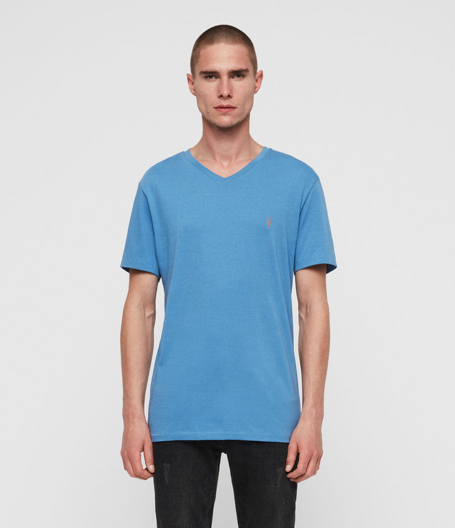Mens Cooper V-Neck T-Shirt (atlantic_blue) - Image 3