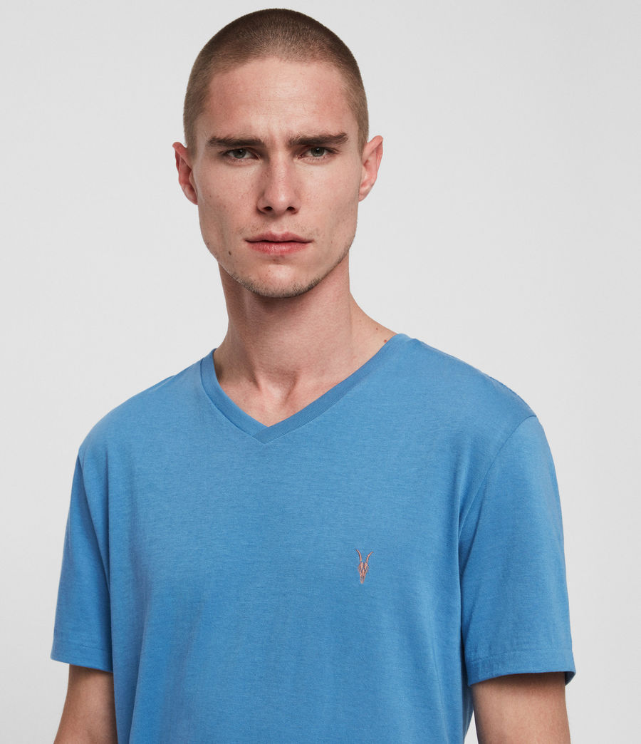 Mens Cooper V-Neck T-Shirt (atlantic_blue) - Image 4