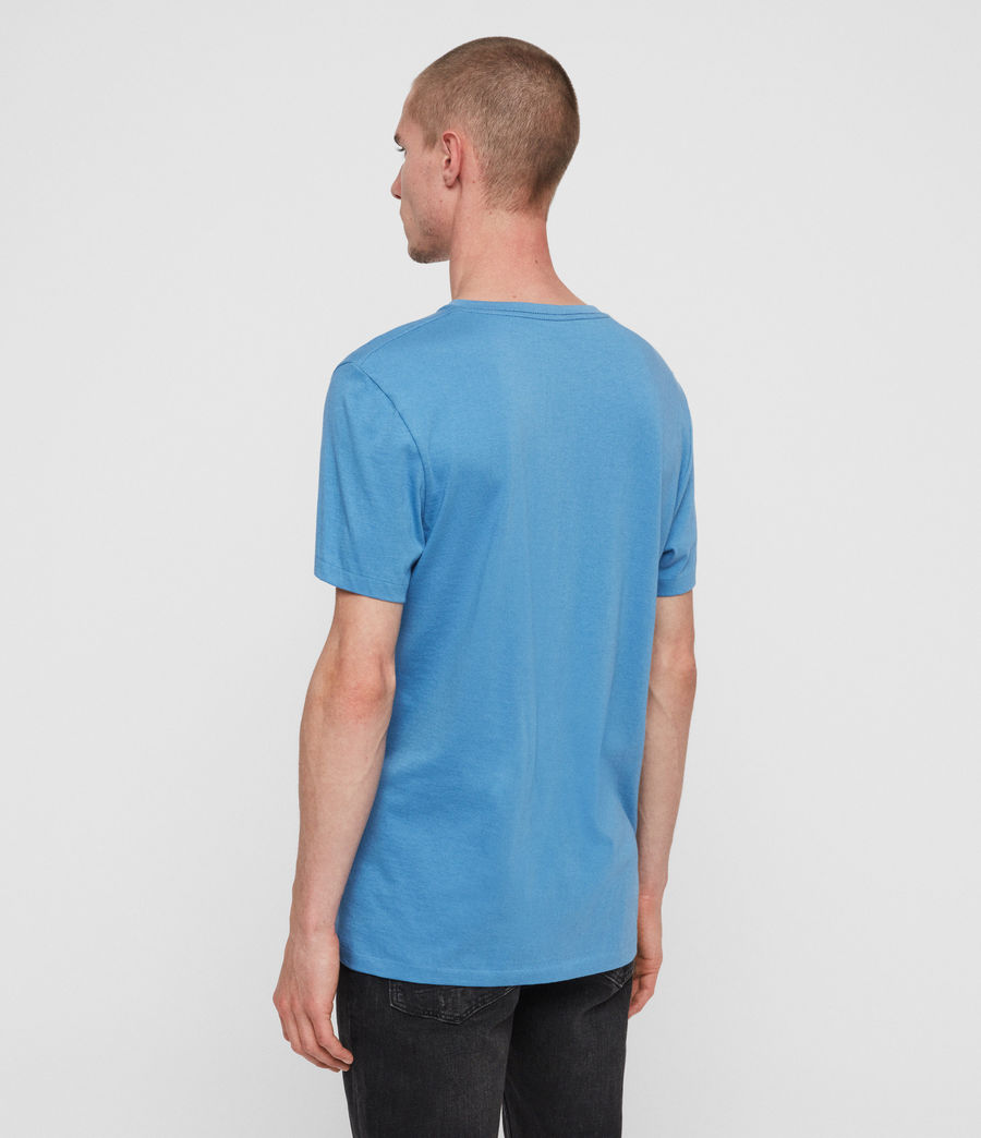 Mens Cooper V-Neck T-Shirt (atlantic_blue) - Image 5
