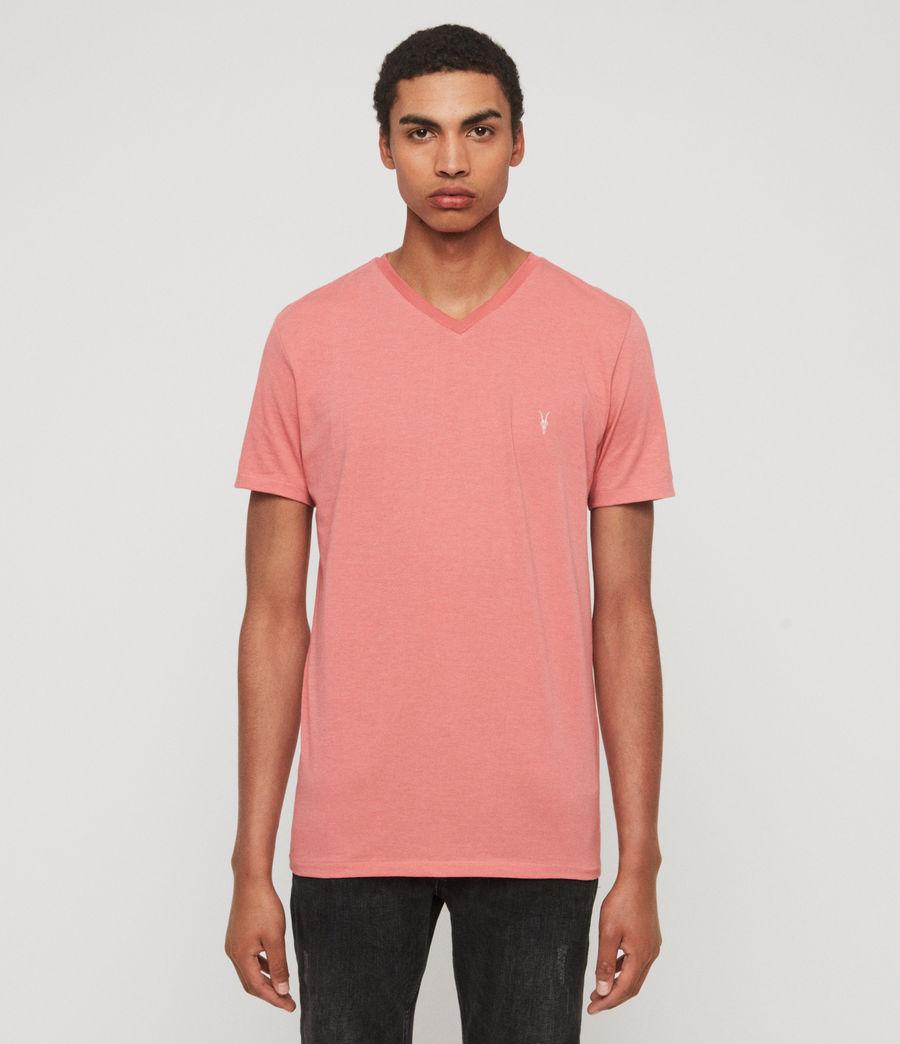 Herren Cooper V-Ausschnitt T-Shirt (havana_pink_marl) - Image 1