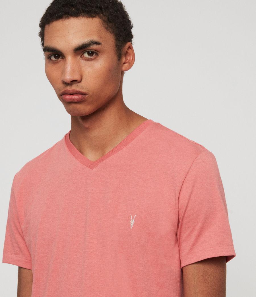 Herren Cooper V-Ausschnitt T-Shirt (havana_pink_marl) - Image 2