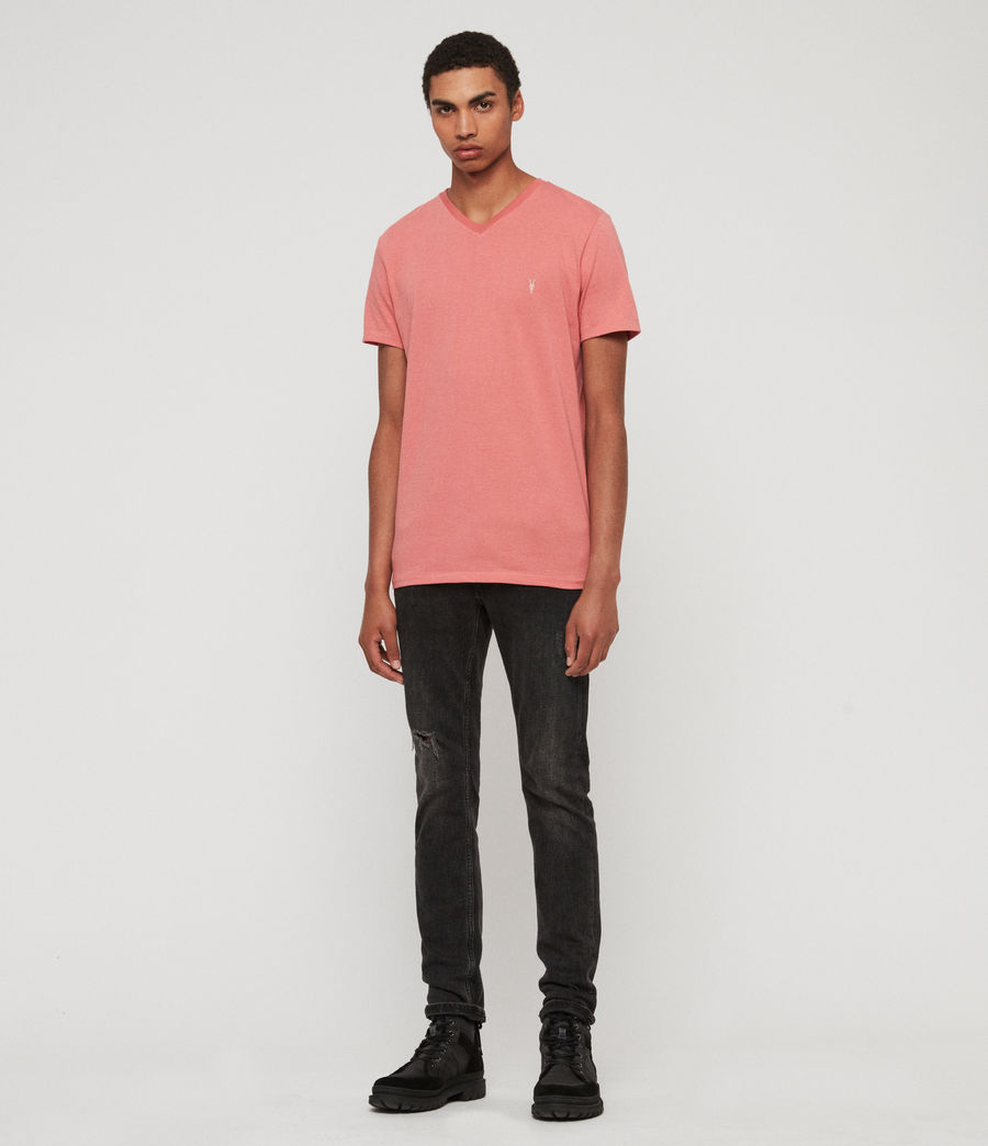Herren Cooper V-Ausschnitt T-Shirt (havana_pink_marl) - Image 3