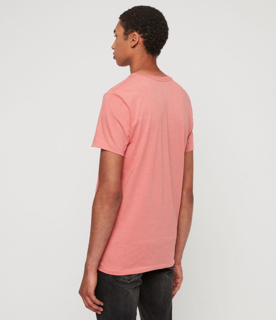 Herren Cooper V-Ausschnitt T-Shirt (havana_pink_marl) - Image 5