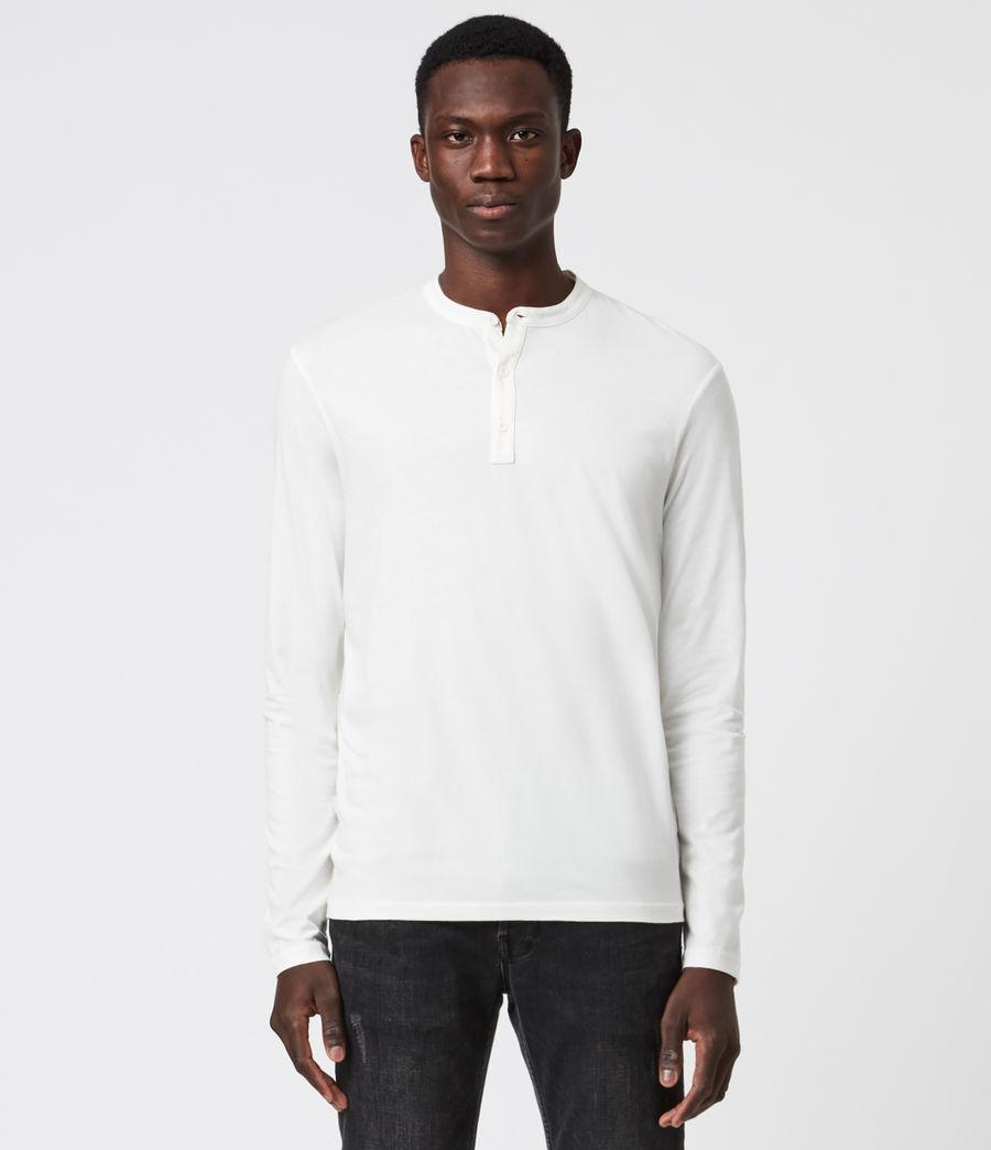 Herren Kershaw Henley Langarmshirt (chalk_white) - Image 1