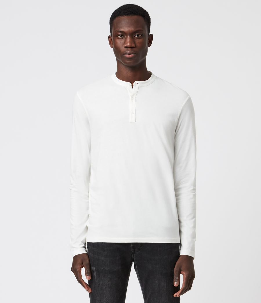 Men's Kershaw Long Sleeve Henley T-Shirt (chalk_white) - Image 1