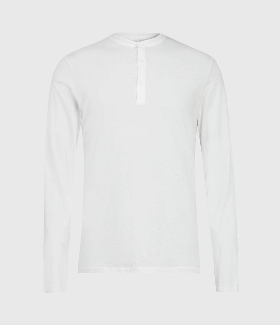 Herren Kershaw Henley Langarmshirt (chalk_white) - Image 2