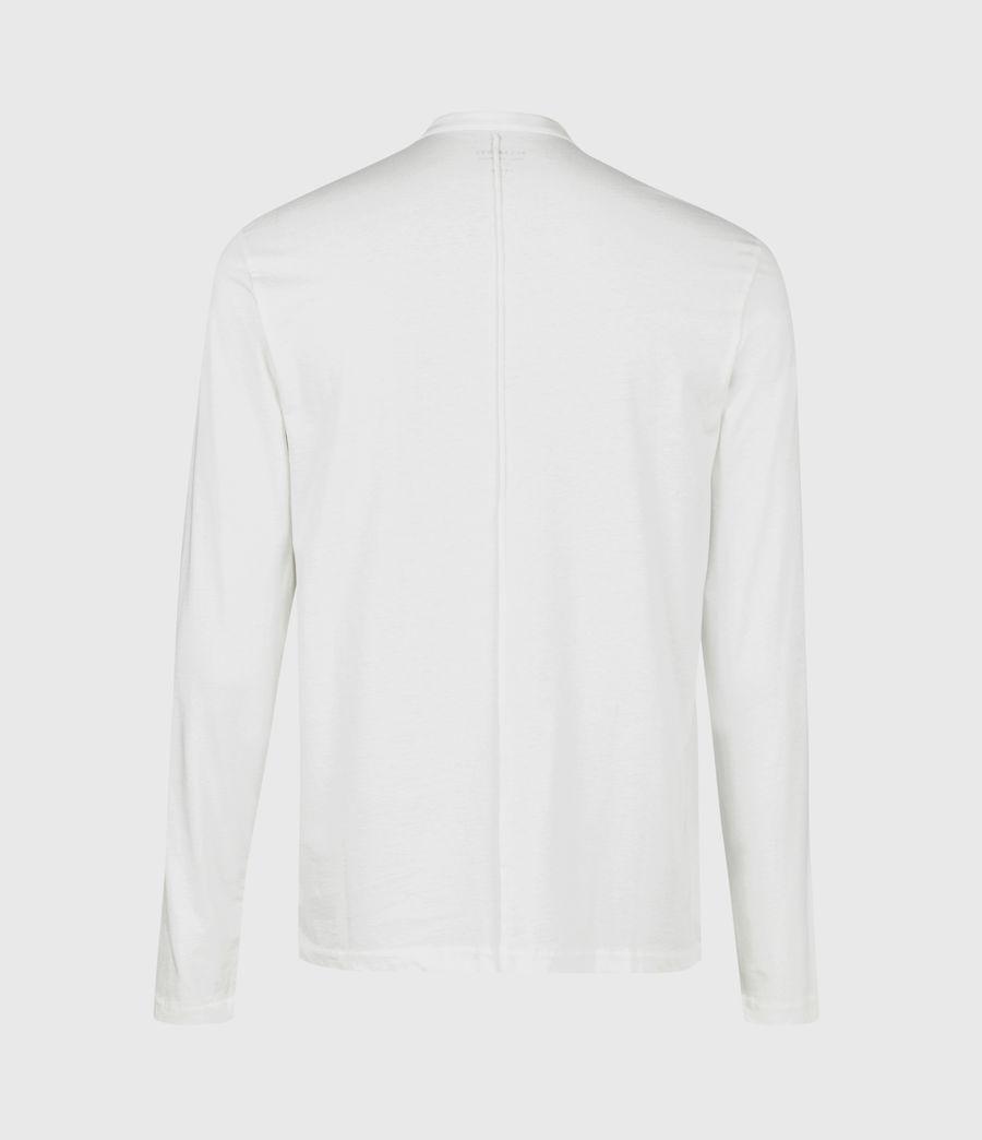 Herren Kershaw Henley Langarmshirt (chalk_white) - Image 3