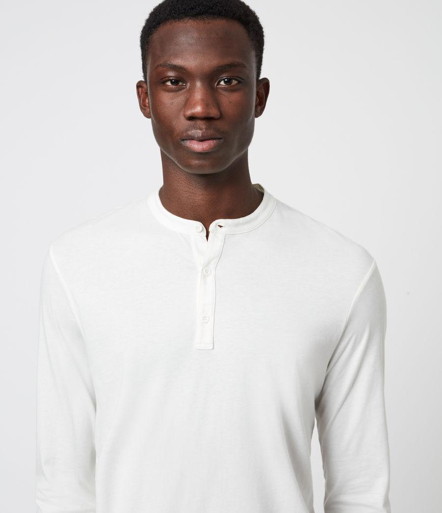Mens Kershaw Long Sleeve Henley T-Shirt (chalk_white) - Image 4