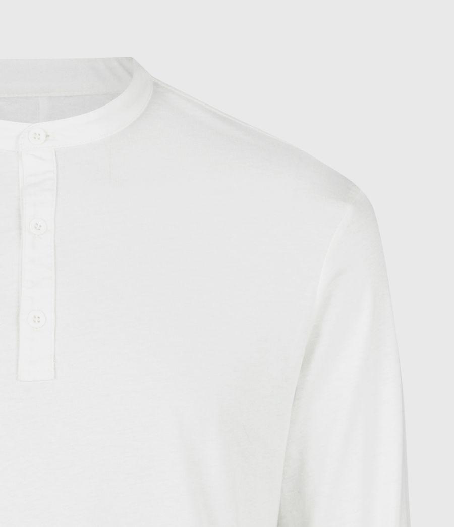 Herren Kershaw Henley Langarmshirt (chalk_white) - Image 5