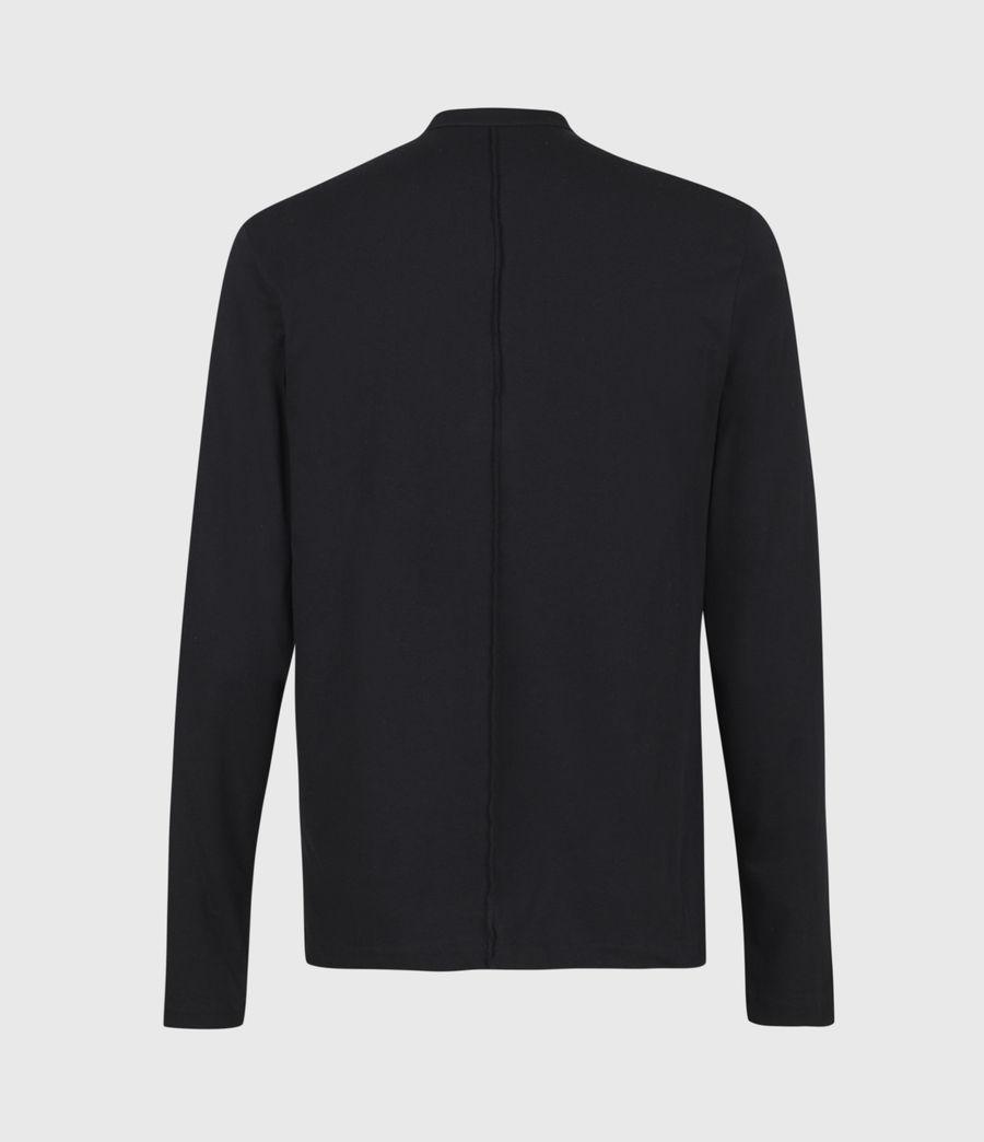 Mens Kershaw Long Sleeve Henley T-Shirt (chalk_white) - Image 3
