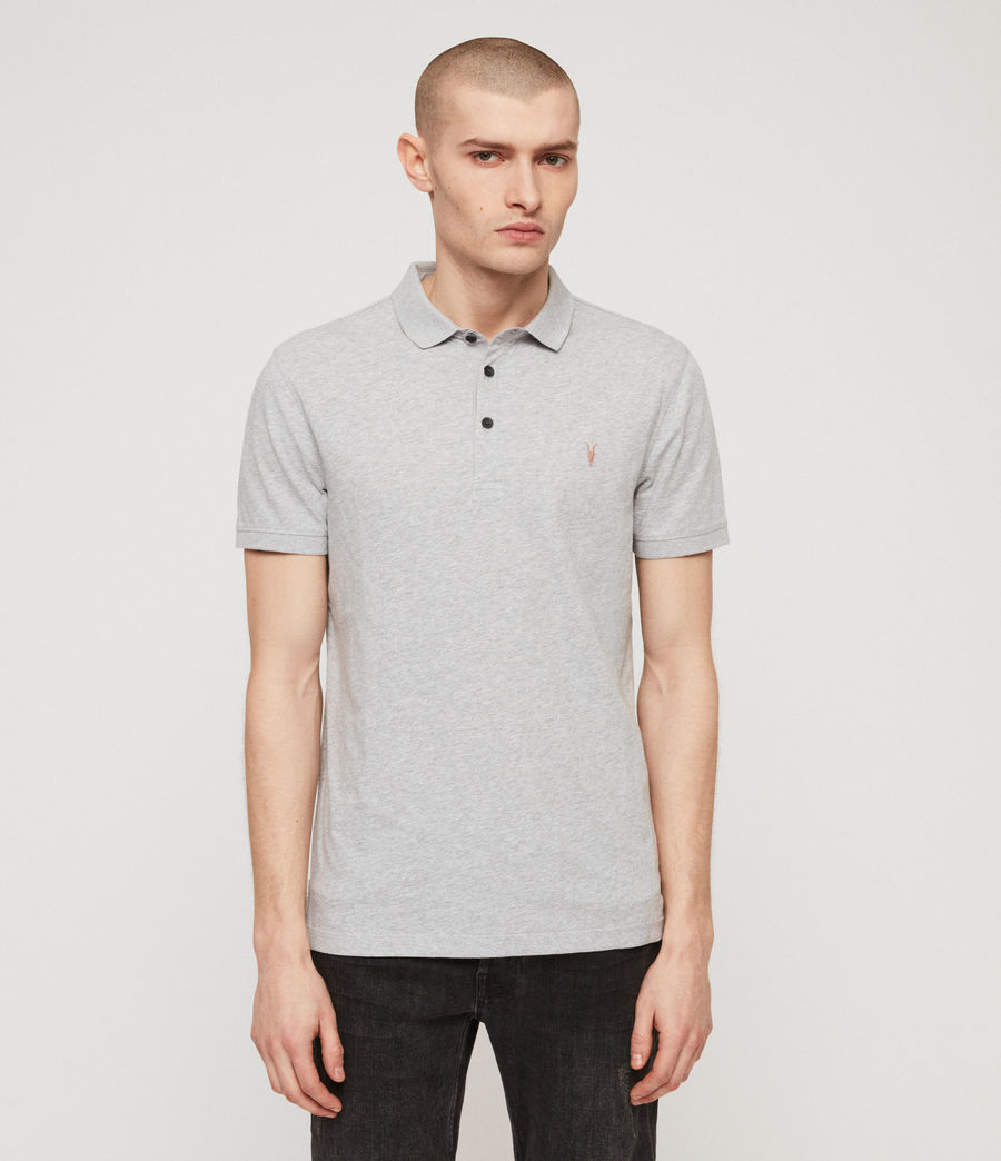 Mens Cooper Polo Shirt (grey_marl) - Image 1