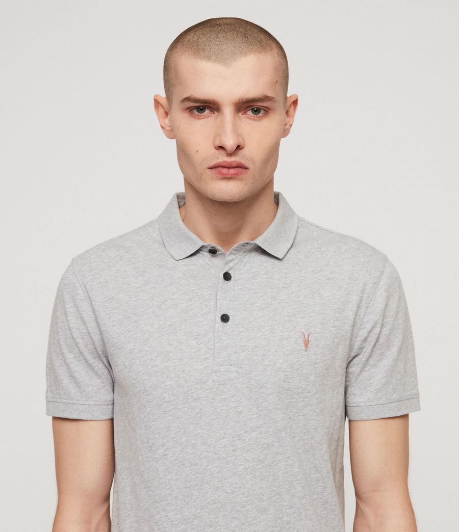 Mens Cooper Polo Shirt (grey_marl) - Image 3
