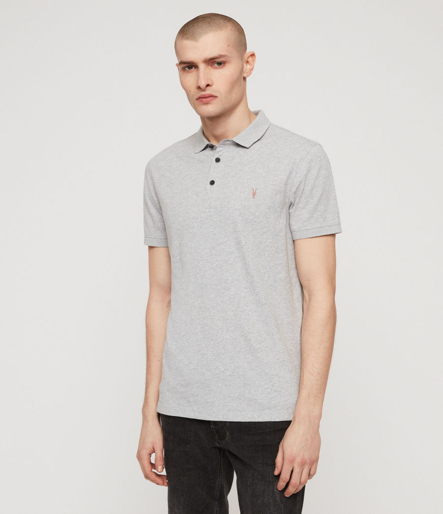 Mens Cooper Polo Shirt (grey_marl) - Image 4