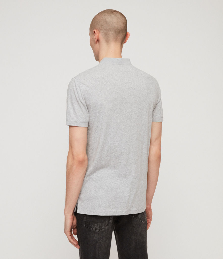 Mens Cooper Polo Shirt (grey_marl) - Image 5