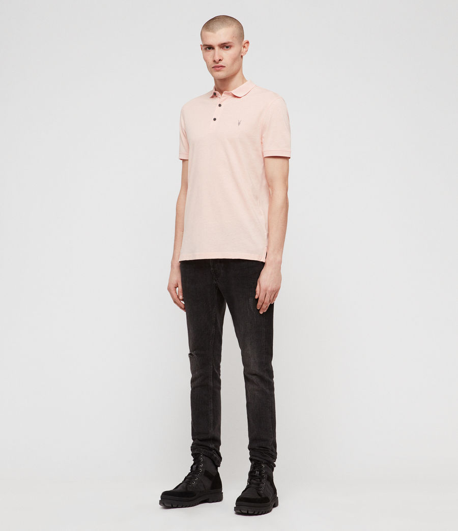 Hommes Polo Cooper (coral_pink_marl) - Image 3