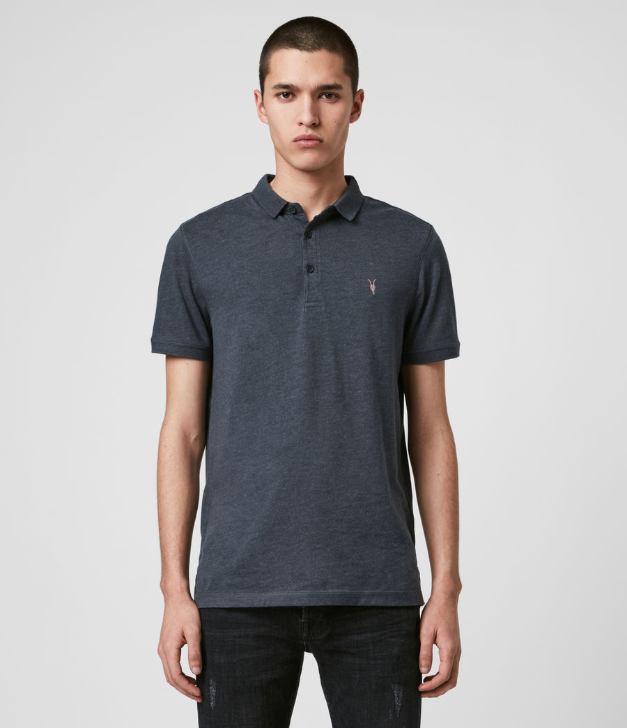 Men's Cooper Polo Shirt (petroleum_navy_mrl) - Image 1
