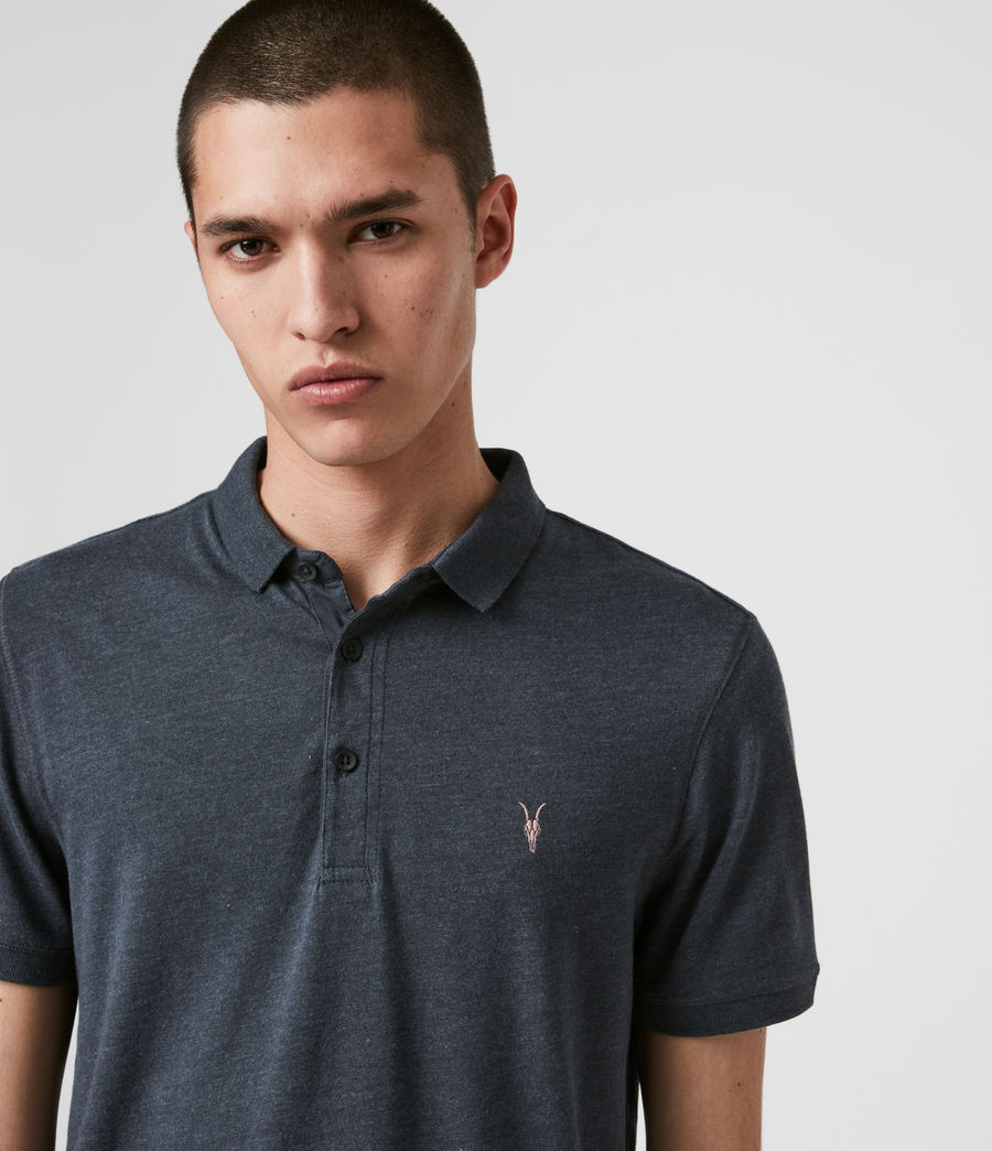 Men's Cooper Polo Shirt (petroleum_navy_mrl) - Image 2