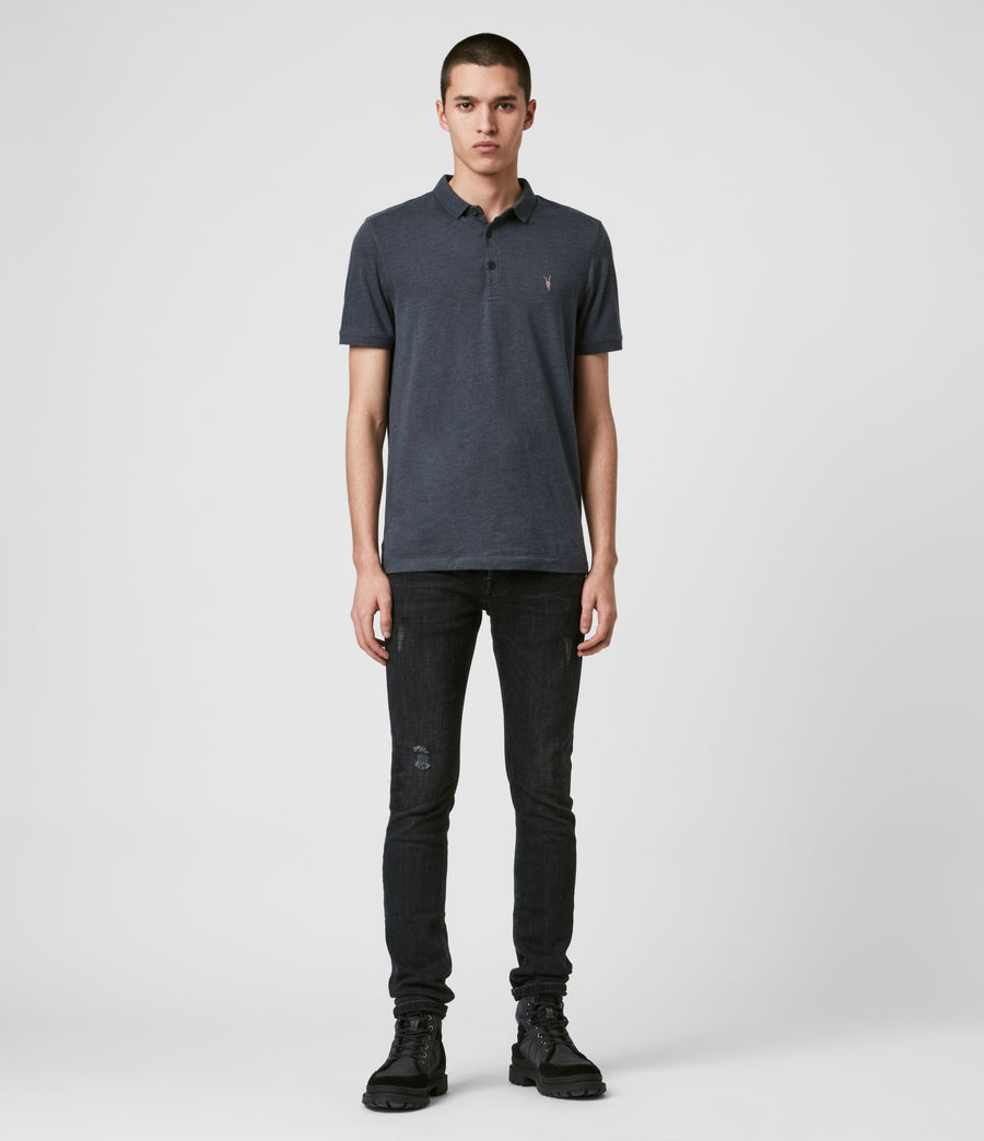 Men's Cooper Polo Shirt (petroleum_navy_mrl) - Image 3