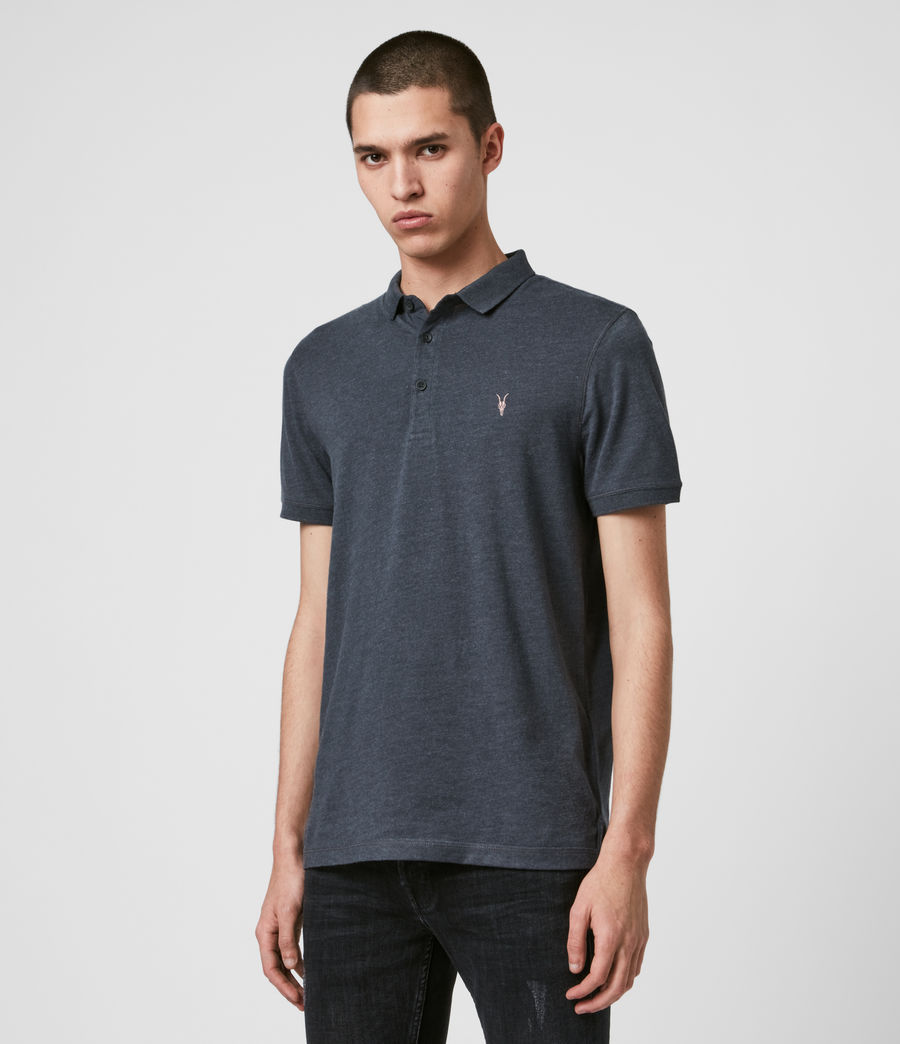 Men's Cooper Polo Shirt (petroleum_navy_mrl) - Image 4