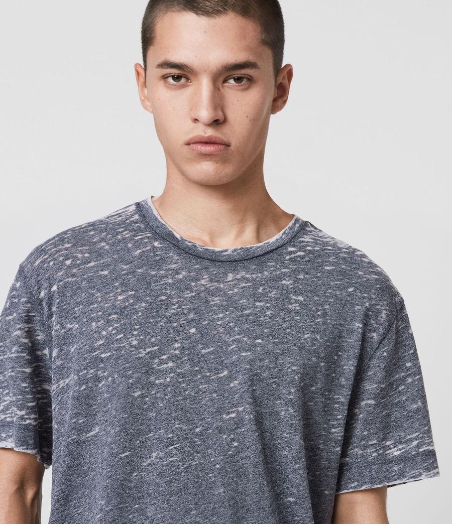 Hommes T-Shirt Effet Dévoré Trinity (blue_mouline) - Image 2
