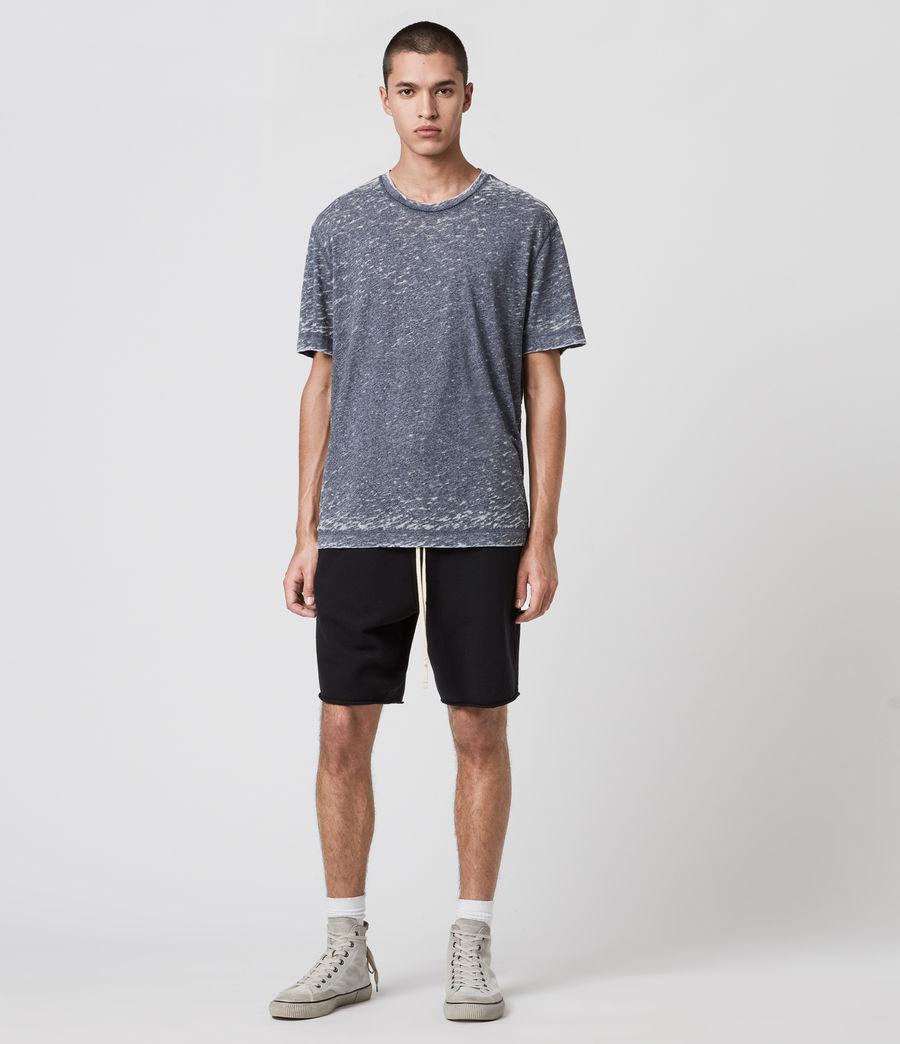 Hommes T-Shirt Effet Dévoré Trinity (blue_mouline) - Image 3