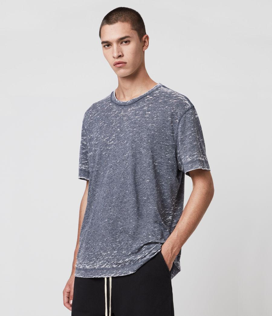 Hommes T-Shirt Effet Dévoré Trinity (blue_mouline) - Image 4