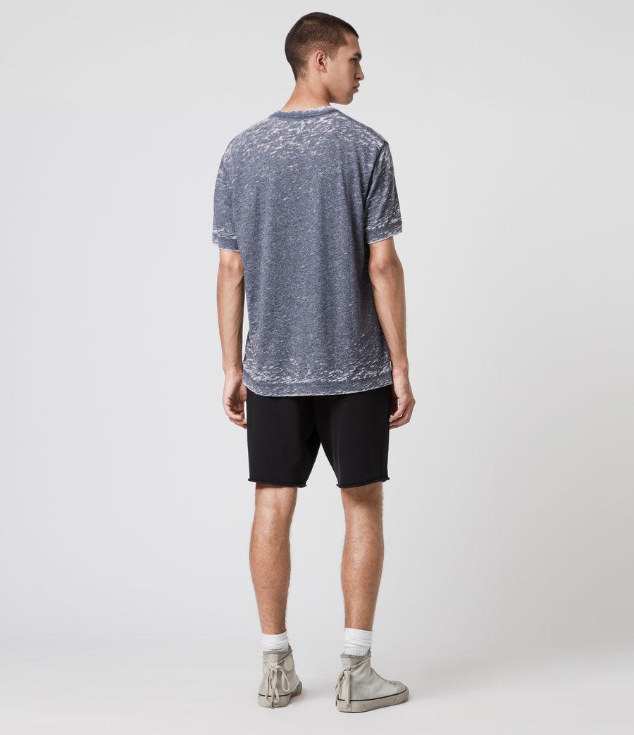 Hommes T-Shirt Effet Dévoré Trinity (blue_mouline) - Image 5