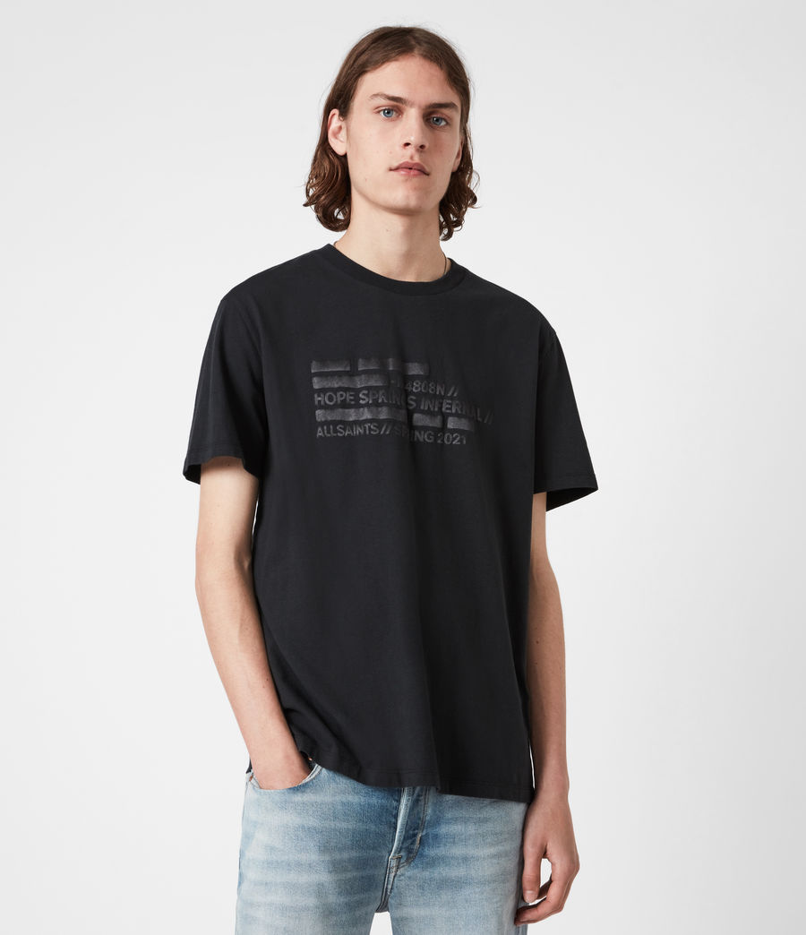Men's Silas Crew T-Shirt (jet_black) - Image 1