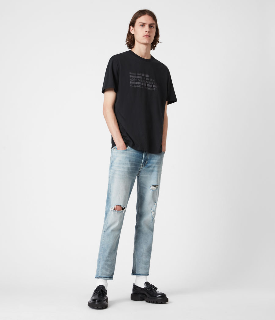 Men's Silas Crew T-Shirt (jet_black) - Image 4