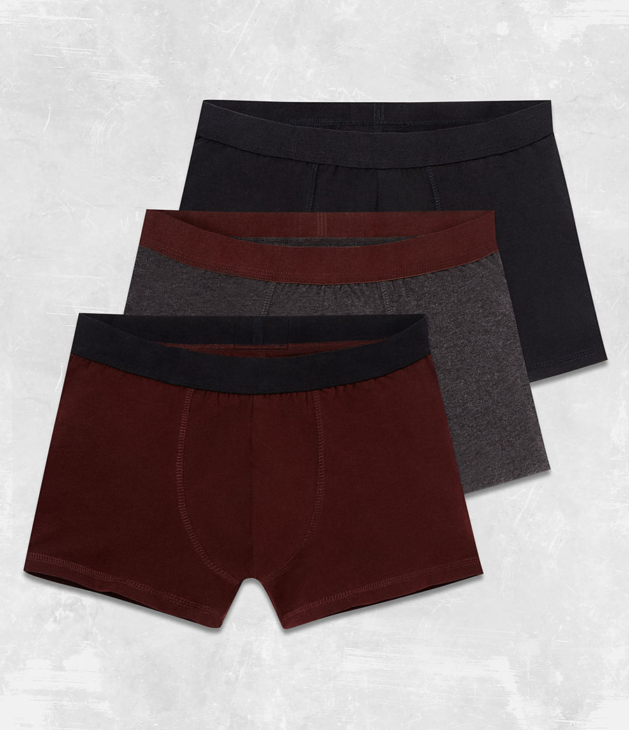 Men's 3 Pack Morrall Boxers (red_charcoal_black) - Image 1