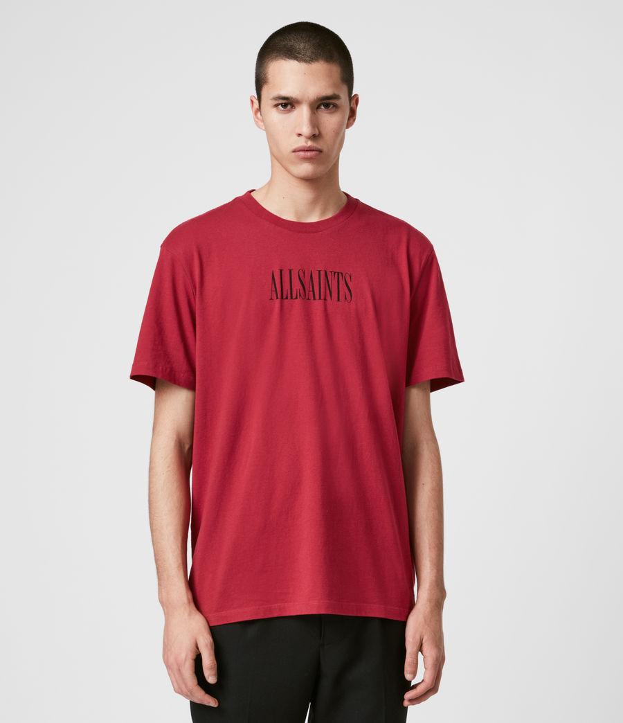 Hommes T-Shirt en Coton Pur Brackets (crimson_red) - Image 1