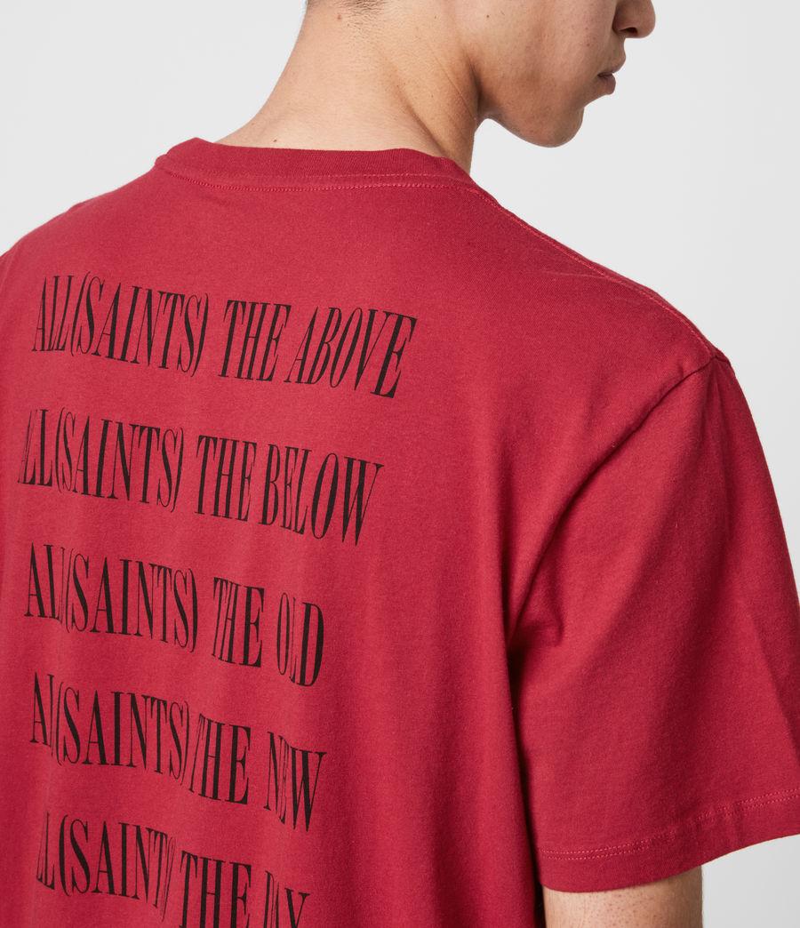 Hommes T-Shirt en Coton Pur Brackets (crimson_red) - Image 2