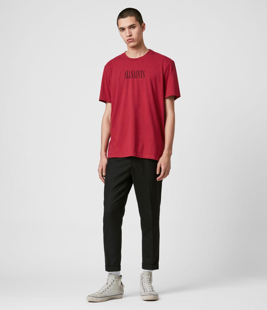 Hommes T-Shirt en Coton Pur Brackets (crimson_red) - Image 3