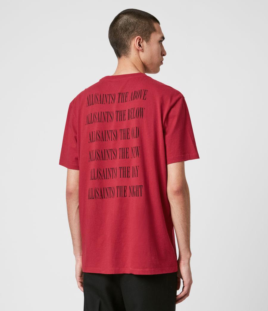 Hommes T-Shirt en Coton Pur Brackets (crimson_red) - Image 5