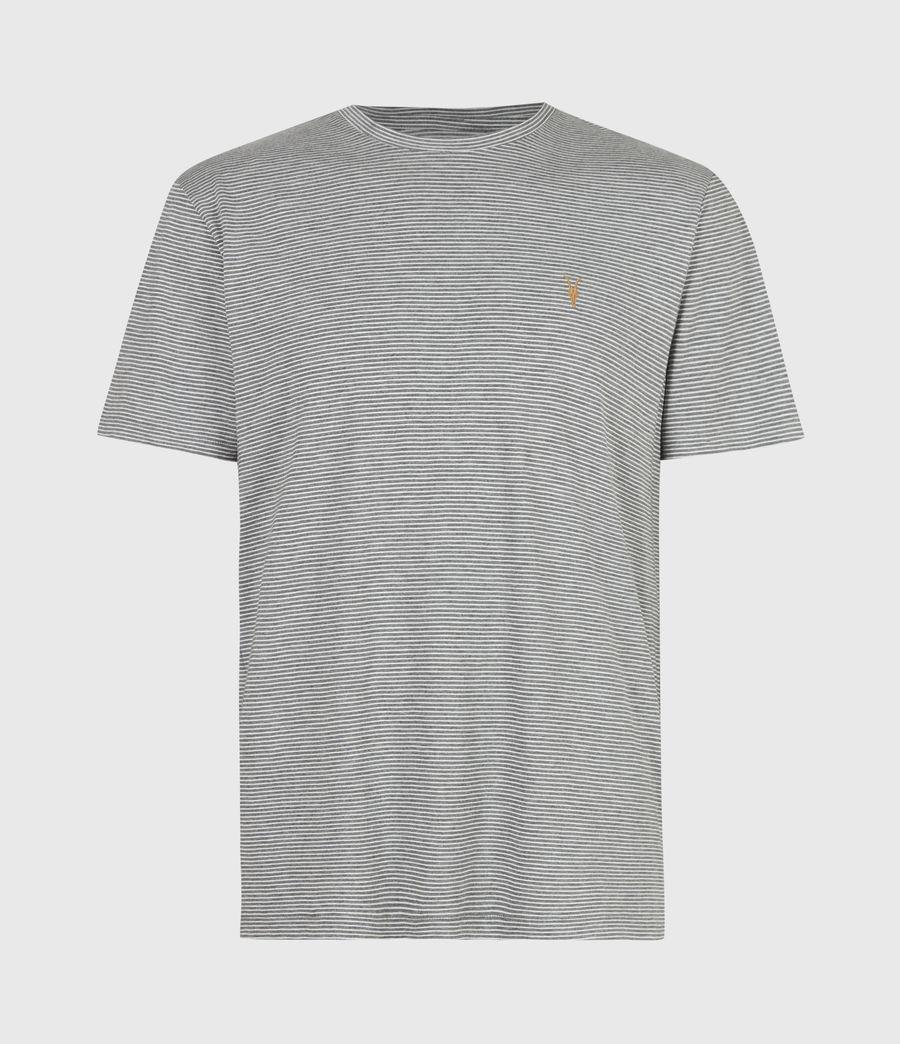 Mens Maddox Crew T-Shirt (grey_ecru) - Image 2