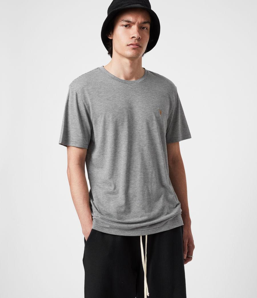 Mens Maddox Crew T-Shirt (grey_ecru) - Image 4