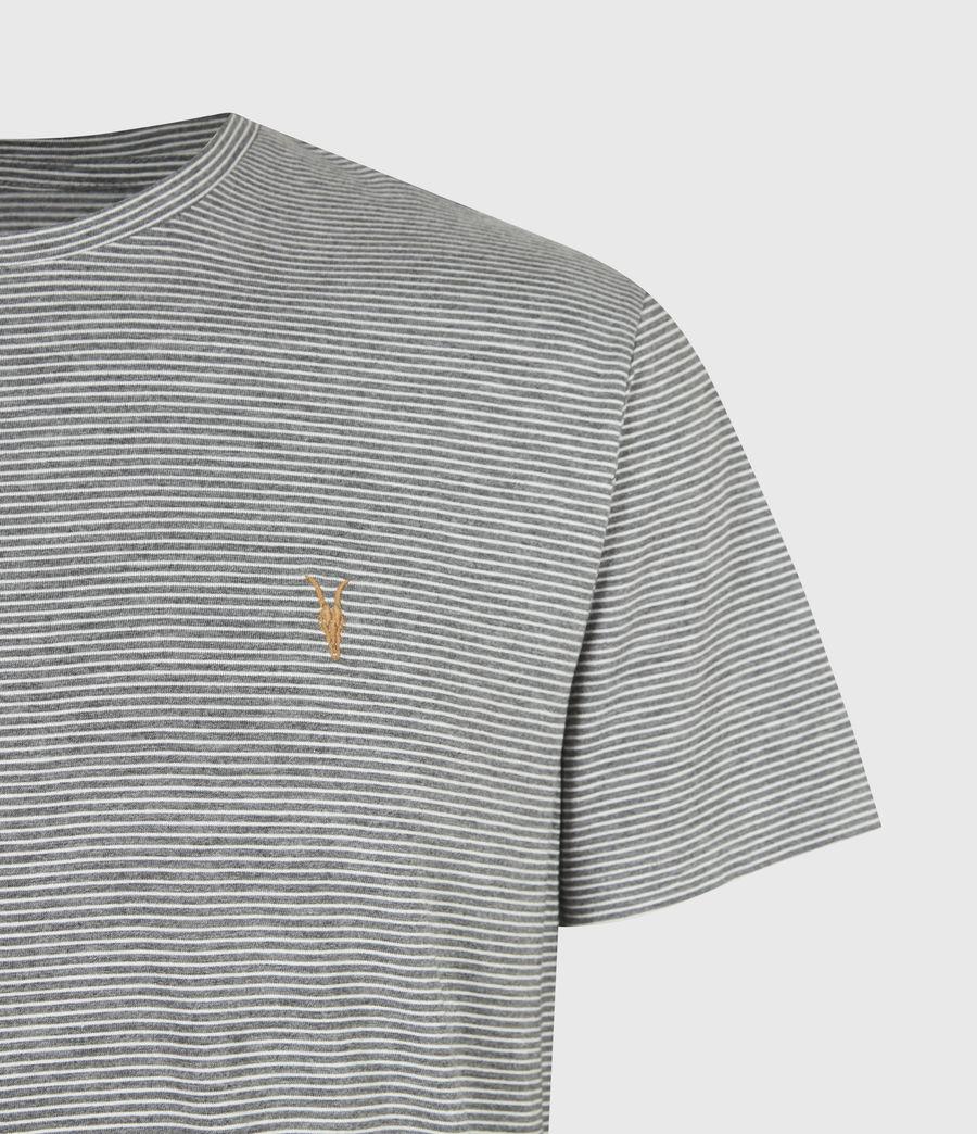 Mens Maddox Crew T-Shirt (grey_ecru) - Image 5