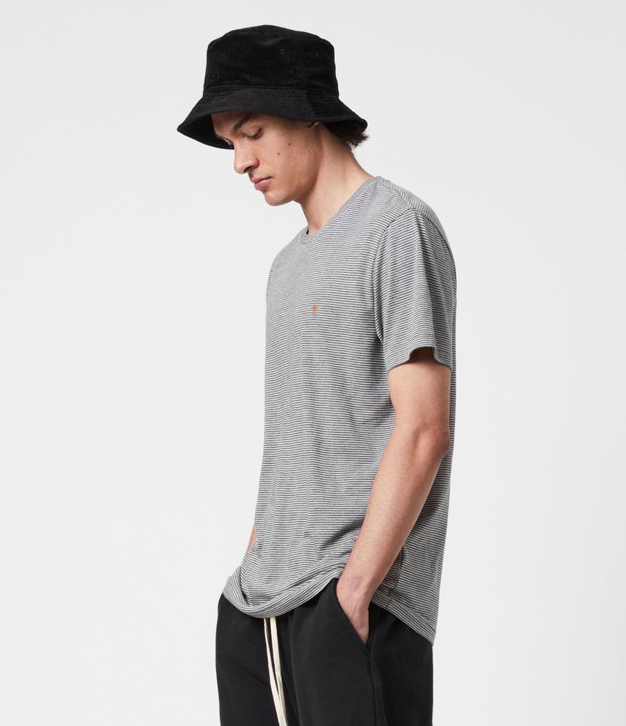 Mens Maddox Crew T-Shirt (grey_ecru) - Image 6