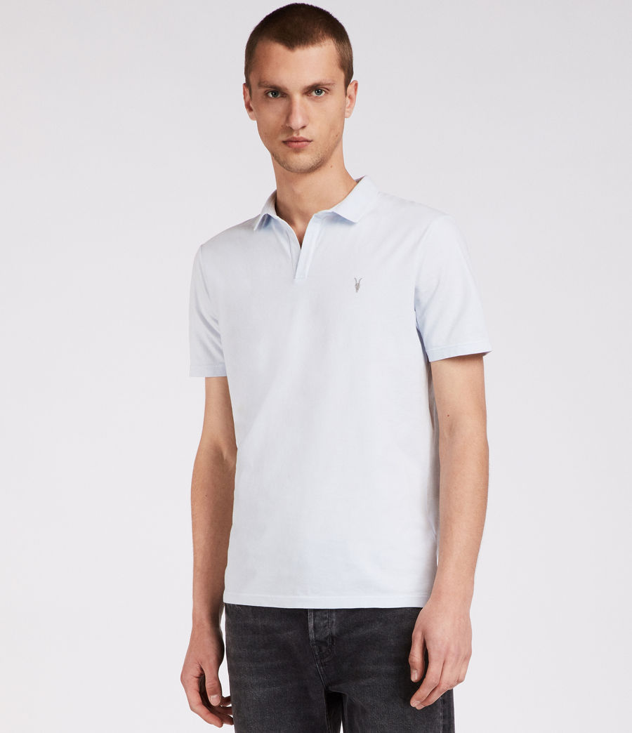 Men's Ossage Open Polo (lattice_blue) - Image 1