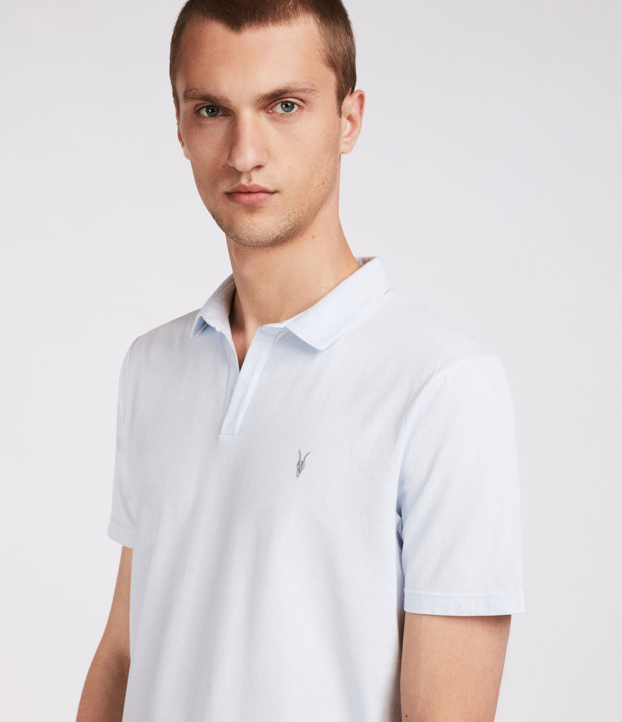 Men's Ossage Open Polo (lattice_blue) - Image 3