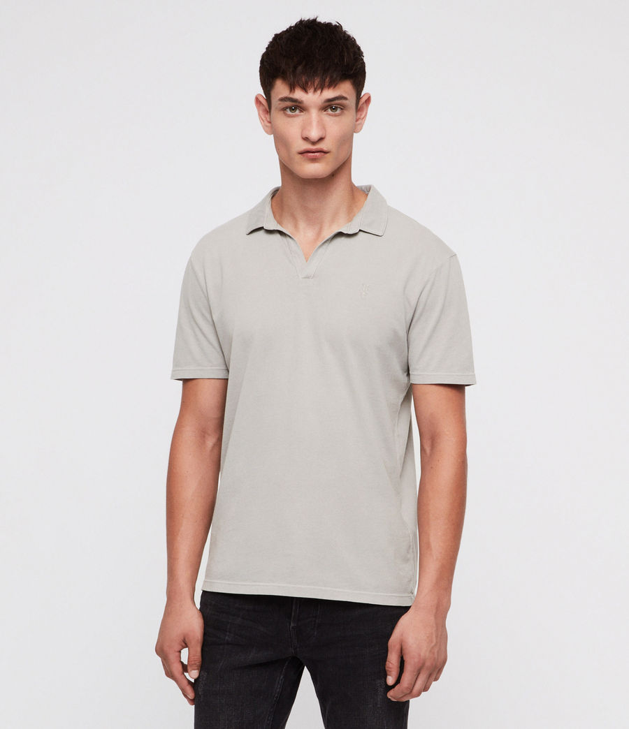Mens Ossage Open Polo Shirt (land_grey) - Image 1