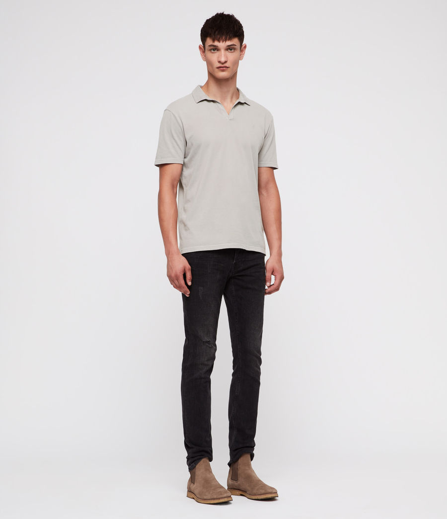Mens Ossage Open Polo Shirt (land_grey) - Image 3