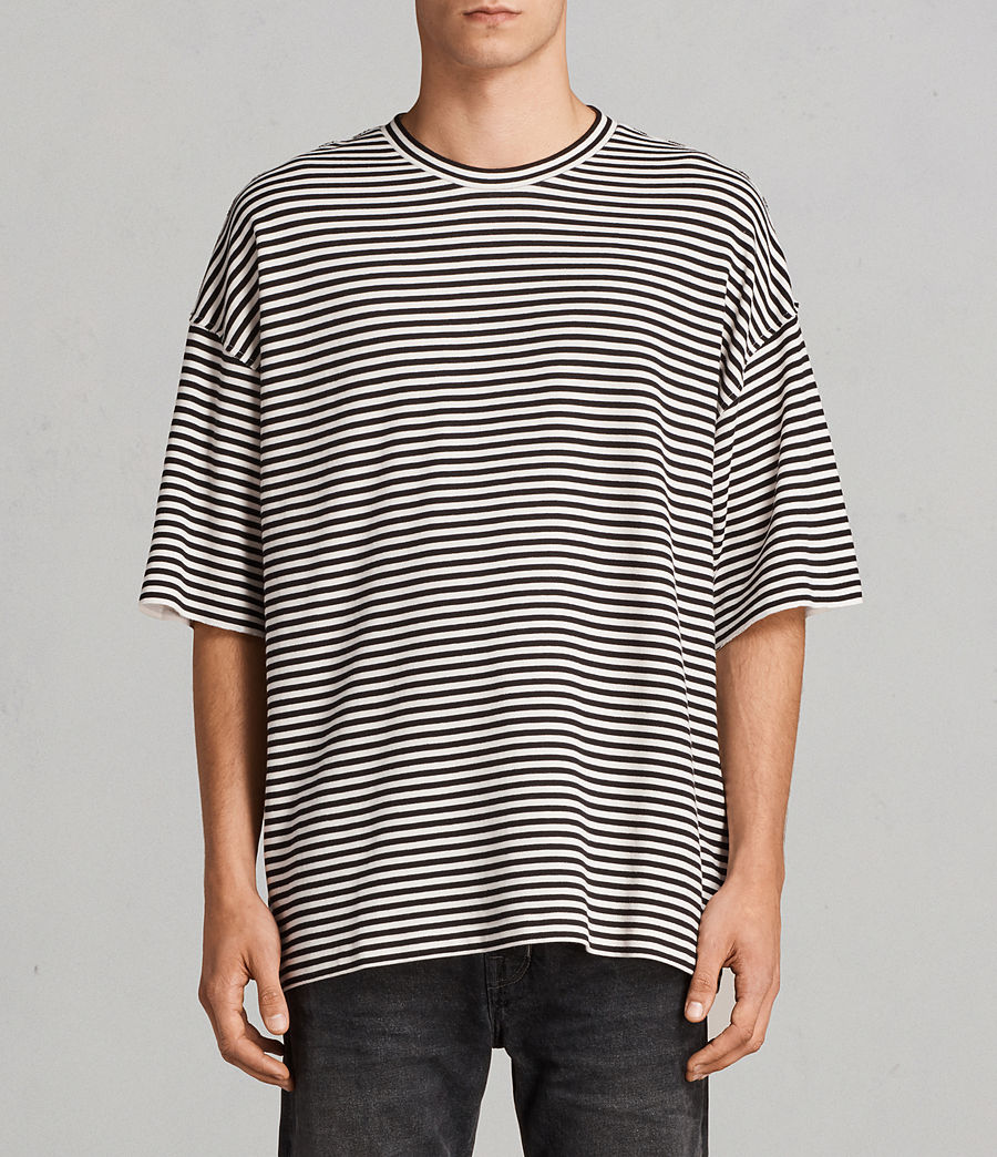 Men's Torny Stripe Crew Sweatshirt (black_white) - Image 1