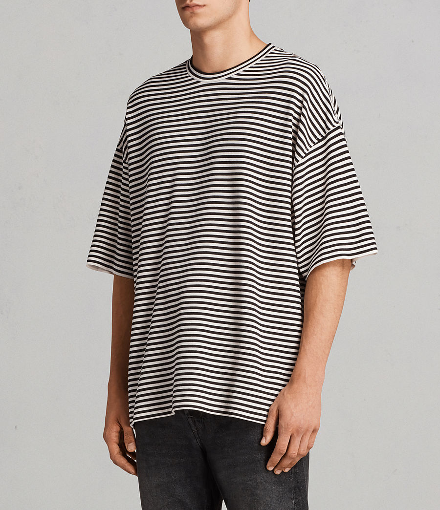 Men's Torny Stripe Crew Sweatshirt (black_white) - Image 2